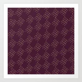 Burgundy checkered pattern Art Print