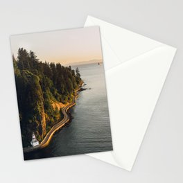 A Curvy Park - Vancouver, British Columbia, Canada Stationery Cards