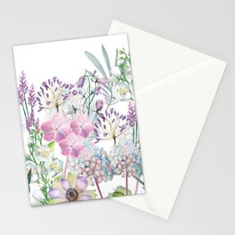 Spring Flowers Bouquet Stationery Cards