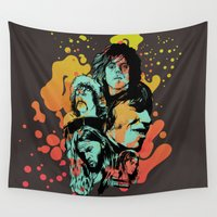 floyd Wall Tapestries featuring Pink Floyd Tribute by RJ Artworks