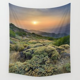 Summer Sunset At The Mountains Wall Tapestry