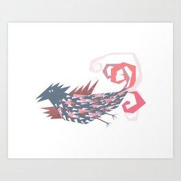 Golden winged  dream bird Art Print