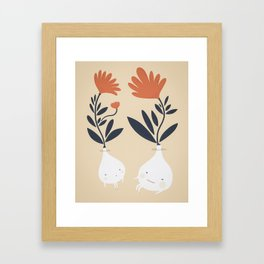 Bulbs Framed Art Print
