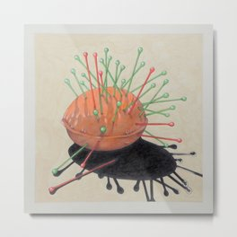pincushion n. 4 Metal Print