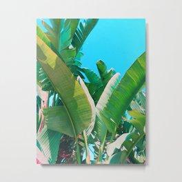 Pop Art Banana Leaf Metal Print