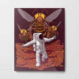 Killer bees on Mars. Metal Print