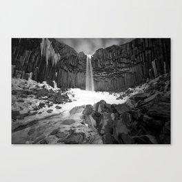The Black Waterfall Canvas Print