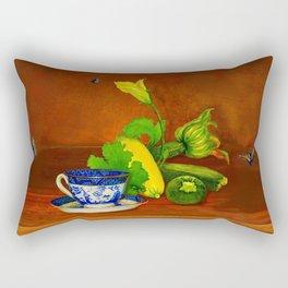Teacup with Squash Rectangular Pillow