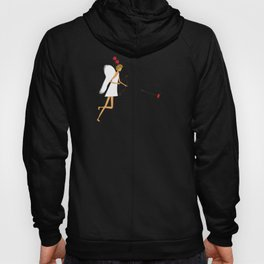 Cupid with bow and heart shaped arrows. All you need is love concept. Hoody