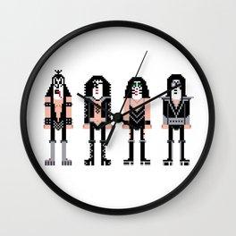 Pixel Kiss Rock Band Wall Clock