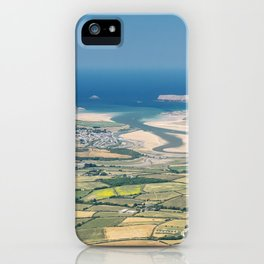 Aerial Views over North Cornwall - Padstow and Rock iPhone Case