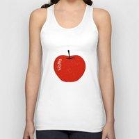 apple Tank Tops featuring Apple by Roland Lefox