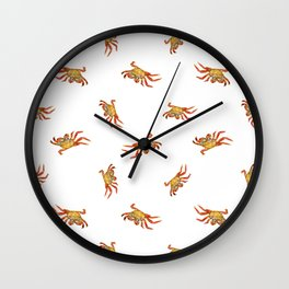 Crabs Photo Collage Pattern Design Wall Clock