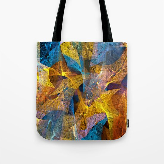 Gold & Blue Abstract Tote Bag