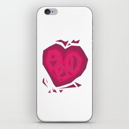 Chiselled  Heart iPhone Skin