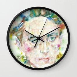 JEAN COCTEAU - watercolor portrait.2 Wall Clock