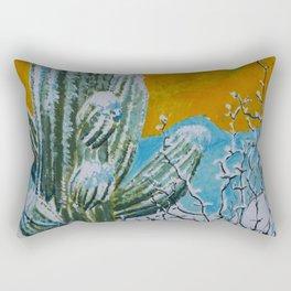 Snowy Desert Rectangular Pillow