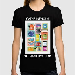 Colorful Cathrineholm Kitchen Geometric Print T-shirt