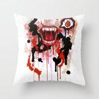 vampire diaries Throw Pillows featuring Vampire by Daniel Savoie