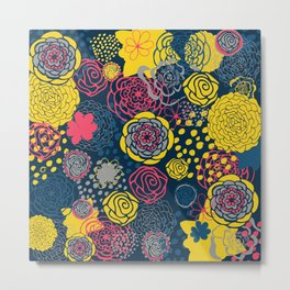 Flower Frenzy Metal Print