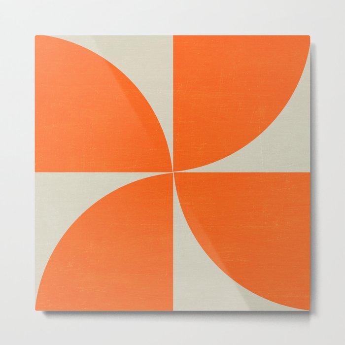 mod petals - orange Metal Print