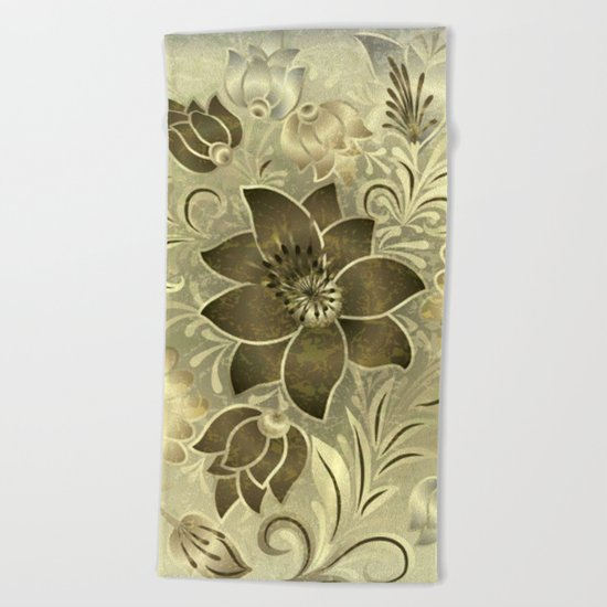 Shabby flowers #11 Beach Towel