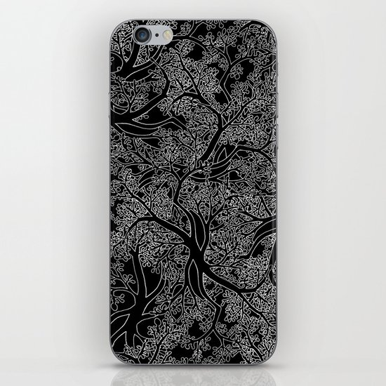 Tree Repeat Black iPhone & iPod Skin