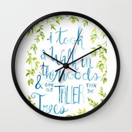 Taller than the Trees Wall Clock