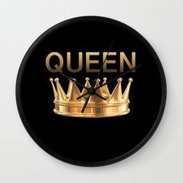 Crown Queen Wall Clock