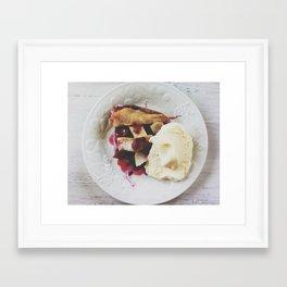Blackberry Cobbler and Ice Cream Framed Art Print