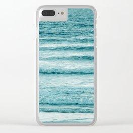 Ocean Ripples Clear iPhone Case