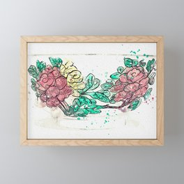 A FAMILLE-VERTE BISCUIT BOWL watercolor by Ahmet Asar Framed Mini Art Print