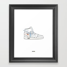 Jordan x Off-White II Framed Art Print