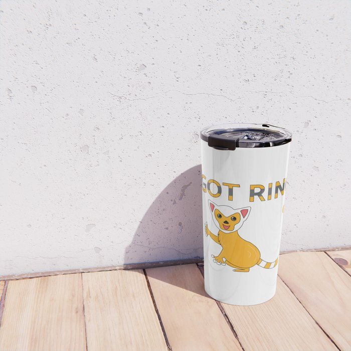 Unique & Funny Ringtail Cat Tshirt Design Got Rings? Travel Mug