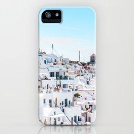 Santorini Greece Ligh Blue Sky iPhone Case