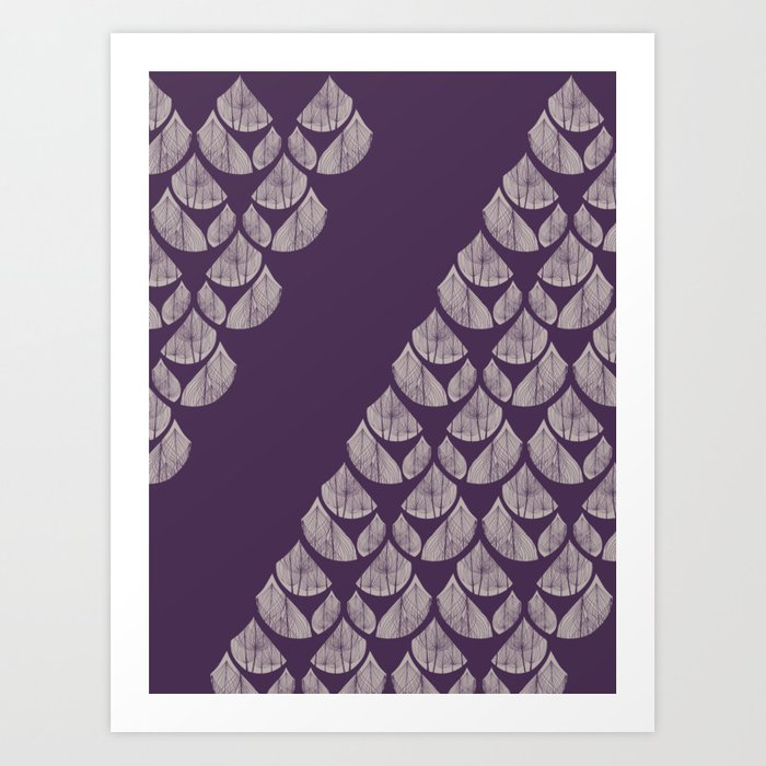 Purple drops Art Print