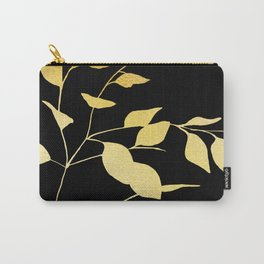 Gold & Black Leaves Carry-All Pouch