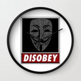 Binairy Vendetta: Disobey Wall Clock