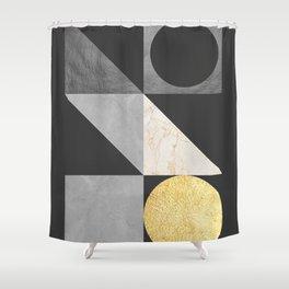 Modern geometric art VI Shower Curtain