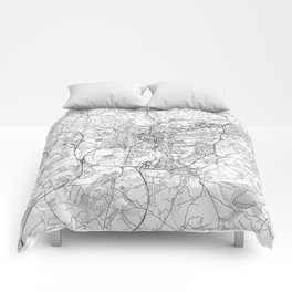 Luxembourg Map Line Comforters