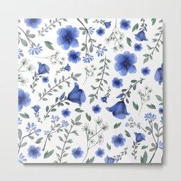 BLUE FLOWERS Metal Print