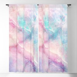 Iridescent marble Blackout Curtain