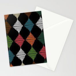 Weaving triangles Stationery Cards