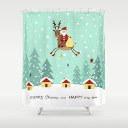 Hello Santa Claus Shower Curtain