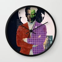 aquaman Wall Clocks featuring Fate Has Chosen And Cannot Be Denied by Alec Goss