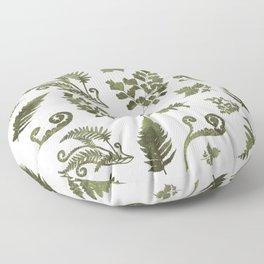 Green Fern Medley Floor Pillow