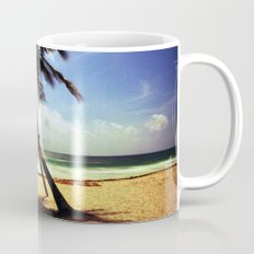 Palm on the beach. Mug