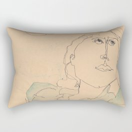 self portrait 1985 Rectangular Pillow
