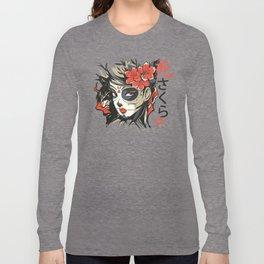 Sugar Skull Japanese Art Long Sleeve T-shirt