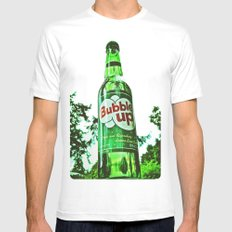 Refreshing Bubble Up soda MEDIUM White Mens Fitted Tee